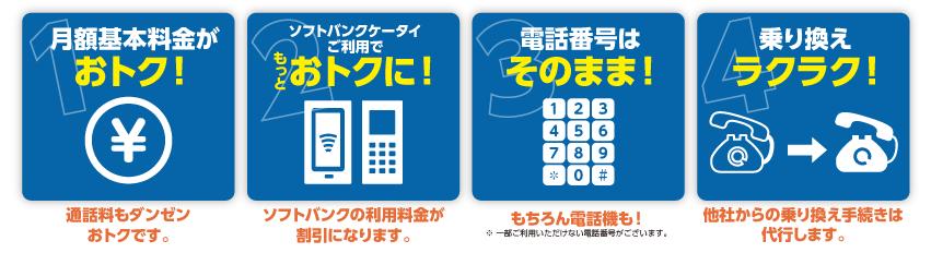 ダイバーPHONEおトクで安心な4つのポイント