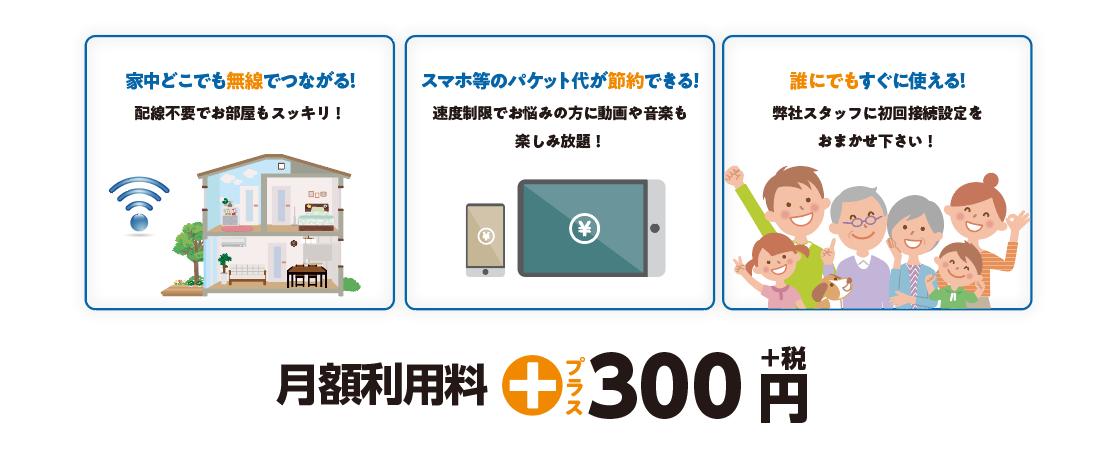 wifi月額利用料円300