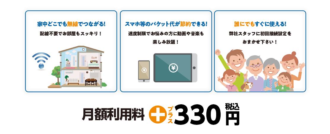 wifi月額利用料円330